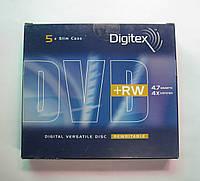 Диски DVD+RW Digitex 4.7Gb 4x Slim Case (5pcs)
