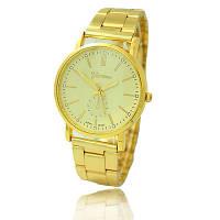 Модные женские часы Geneva, цвет золото