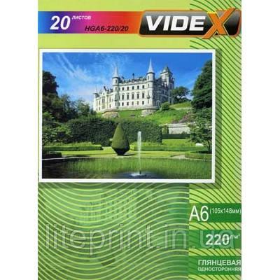 Videx Фотобумага HGA6 220/20 Глянцевая односторонняя 10x15 20 листов