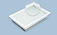 Решетка алюминиевая 900х500h двухрядная регулируемая RAL901, фото 1