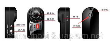 Оригинальная инструкция по эксплуатации WiFi мини камеры Q7 IP P2P HD mini DV Night Vision