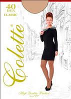 Колготы женские капроновые Colette СLASSIC 40 den матовые с классическими шортиками
