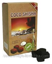 Кокосове вугілля для кальяну Coco shisha 0,1 кг ( 8 шматочків ) в упаковці