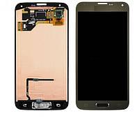 Дисплей для Samsung G900F Galaxy S5, G900H Galaxy S5 Duos, G900A Galaxy S5, + с сенсором (тачскрином) Gold