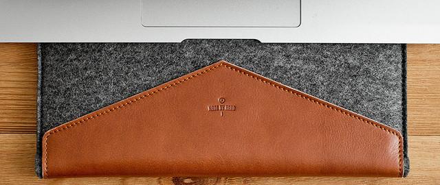 Кожаный чехол-папка для лэптопа мак
