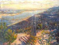 Картина Киев Вид на Владимирскую горку  А.В.Бобров 1968 год