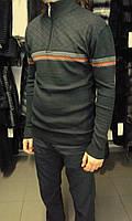 Свитер мужской (пуловер) темно-серый, на молнии