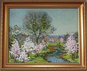 Картина Весенний пейзаж  Жуган В.А.1975 год