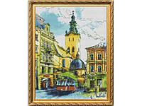 Набор для вышивки картины Радужный Львов 57х47см