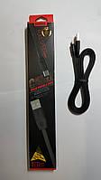 Кабель  Remax для Samsung  Micro USB черный плоский прорезиненый.