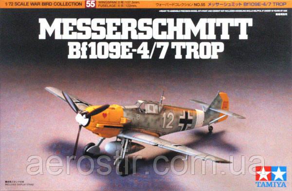 Messerschmitt Bf 109E-4/7 TROP 1/72 TAMIIYA 60756