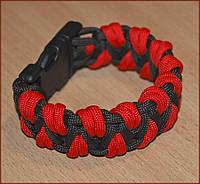 Паракордовый браслет выживания Красный Дракон