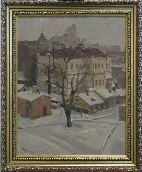 """Картина """"Киев. Зимний Печерск"""". Григорьев С.А. 1946 год"""