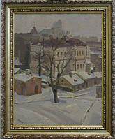 Картина Киев Зимний Печерск Григорьев С.А. 1946 год