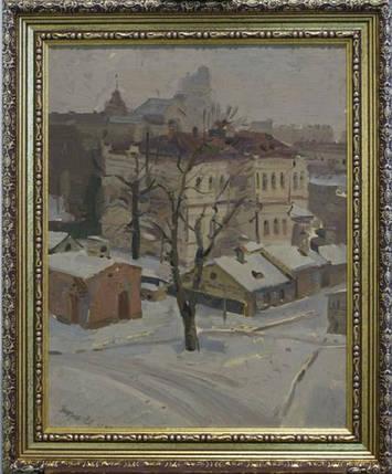 """Картина """"Киев. Зимний Печерск"""". Григорьев С.А. 1946 год, фото 2"""