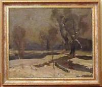 "Картина ""Зимний пейзаж"". Дерегус М.Г. 1950-е годы"