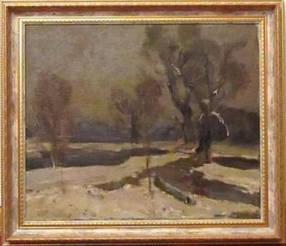 Картина Зимний пейзаж Дерегус М.Г. 1950-е годы