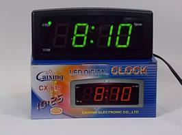 Часы  электронные настольные СХ 819 - 1(красная подсветка)   .dr