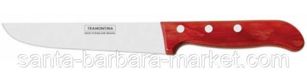 """Нож """"Tramontina"""" Polywood поварской 100мм (с красной ручкой)  21127/074"""