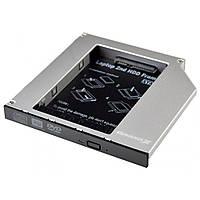 Переходник Grand-X подключения HDD 2.5'' в отсек привода ноутбука, SATA/mSATA (HDC-25)