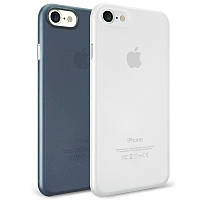 Набор чехлов O!coat 0.3 Jelly 2 in 1 case for iPhone 7 Clear and Dark Blue, OC720CD