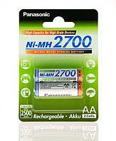 Аккумулятор Panasonic High Capacity  AA 2700 mAh 2BP   Ni-MH, BK-3HGAE/2BE
