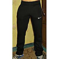 Спортивные штаны мужские NIKE трехнитка на флисе черные ЗИМА
