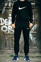 Мужской черный спортивный костюм Nike галочка
