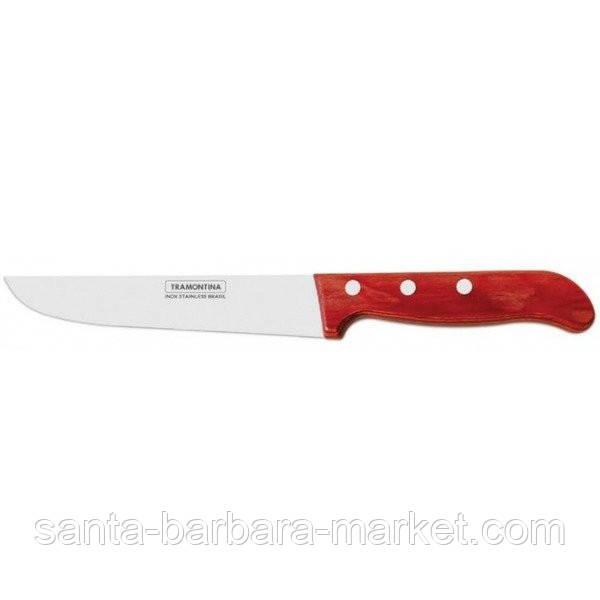"""Нож """"Tramontina"""" Polywood поварской 152мм (с красной ручкой)  21127/076"""