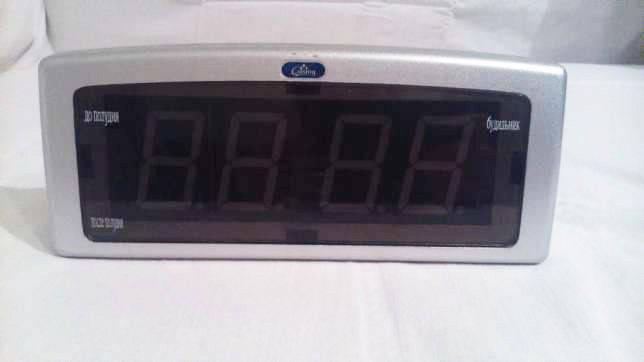 Часы  электронные СХ 819 - 2 (зеленая подсветка) с будильником и термометром     .dr, фото 2