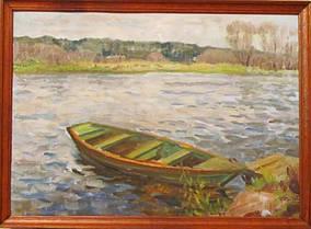 Картина Возле реки  Дзюбан И.Ф. 1976 год