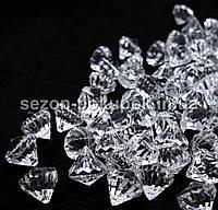Кристаллы для декора с отверстиями. D-15мм Цена за 25 шт.