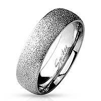 """Обручальное кольцо из нержавеющей стали цвет """"серебро"""" Spikes 15.75"""