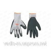 Перчатки трикотажные с латексным и нитриловым покрытием.
