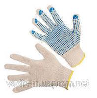 Перчатки хлопчатобумажные с точечным ПВХ-покрытием.