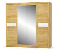 Шкаф 4Д Квадро (Мебель-Сервис)  2198х579х2173мм рисинг эльм