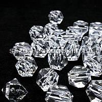 Кристаллы для декора с отверстиями. 18х15мм Цена за 10 шт.