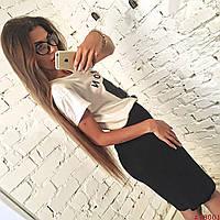 Стильная черная женская юбка карандаш
