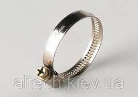 Хомут затяжний гвинтовий (нержавіюча сталь W2). 130-150 мм