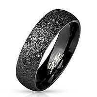 Обручальное кольцо из нержавеющей стали черное Spikes