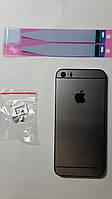 Крышка  задняя Apple iPhone 5S (под iPhone 6) серая с тонкой рамкой.
