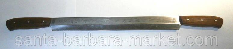 """Нож """"Спутник"""" для сыра 2-ручный  570х37мм"""