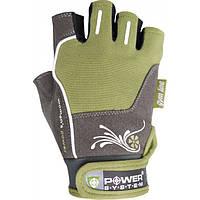Перчатки спортивные, женские Power System WOMANS POWER PS 2570 Green, фото 1