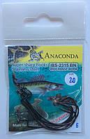 Крючки оффсетные Anaconda (6шт) Размер № 1; 1/0; 2/0; 3/0, фото 1