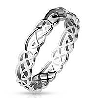 Женское ажурное кольцо из бронзы с родиевым покрытием.