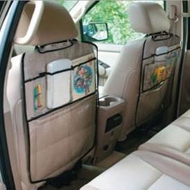 Защитный чехол на спинку переднего сиденья с карманами 44*53см 1 штука (04022)