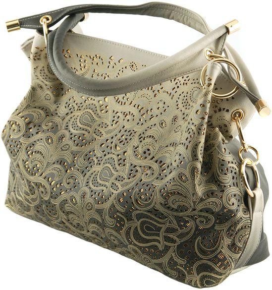 Жіноча сумка з екошкіри Traum 7236-05, сірий