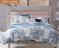 """Комплект постельного белья """"Viluta"""" Platinum семейный Вилюта № 12657 голубой"""