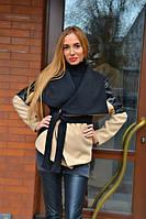 Женское стильное короткое пальто 079