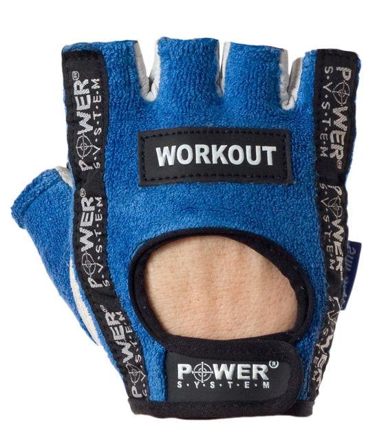 Перчатки спортивные, для зала Power System WORKOUT PS 2200 Blue